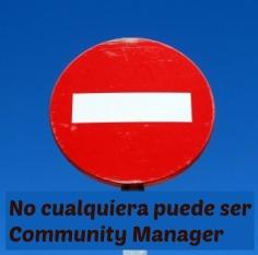 No cualquiera Community Manager